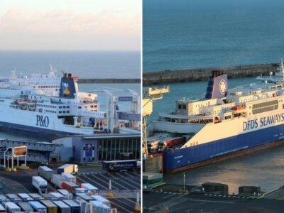 DFDS und P&O verkürzen Frachtbeförderung auf der Handelsroute Dover – Calais