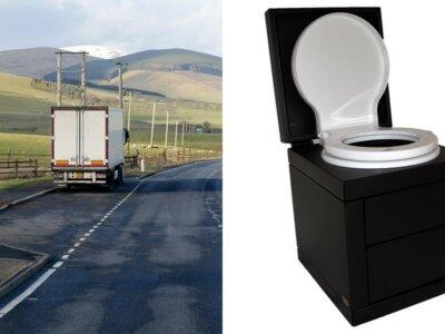 Jeden z przewoźników zaczął testować toalety ustawiane w kabinie ciężarówki. Co na to kierowcy?