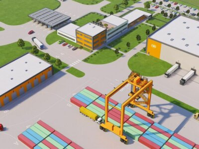 Завершено строительство железнодорожной линии до крупнейшего в Европе интермодального терминала