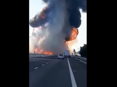 Auffahrunfall auf einen Tanklaster mit Flüssiggas – zwei Lkw-Fahrer sind ums Leben gekommen