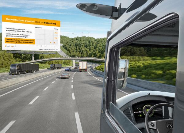 """""""Der vernetzte Truck"""": Continental-Studie offenbart Handlungsbedarf bei Digitalisierung"""