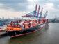 Weltweit erstes auf LNG umgerüstetes Großcontainerschiff in Hamburg eingefahren