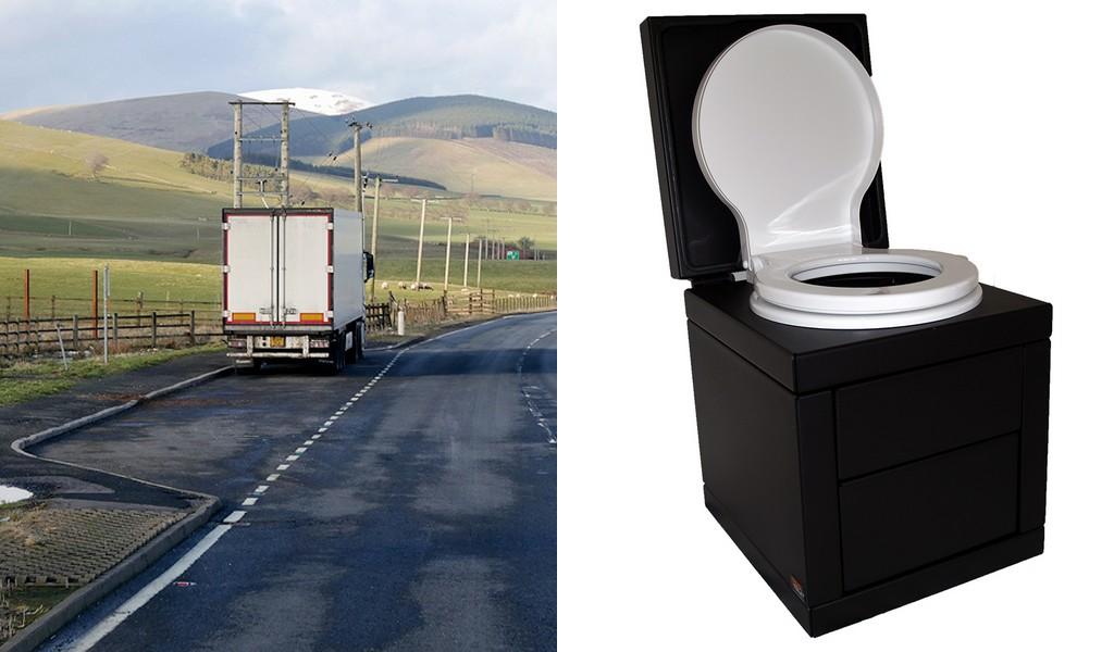 Vienas iš vežėjų pradėjo bandyti sunkvežimių kabinose įrengtus tualetus. Ką sako vairuotojai?