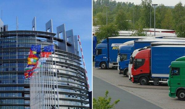 Meghívták a kamionsofőröket, hogy szólaljanak fel az Európai Parlamentben