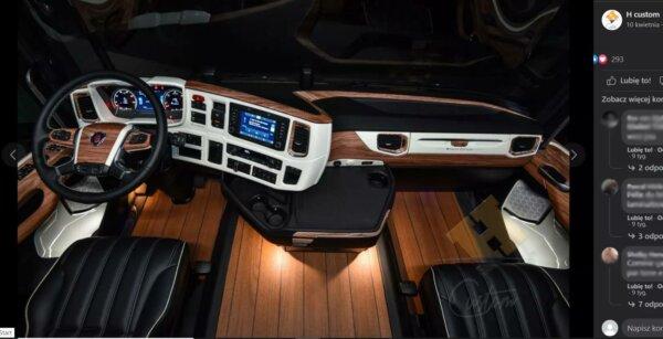 Lśniący parkiet na podłodze ciężarówki? Zajrzyj do trucka, którego wnętrze przypomina… luksusowy jac