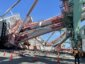 Video footage shows dramatic container ship crash that toppled huge crane