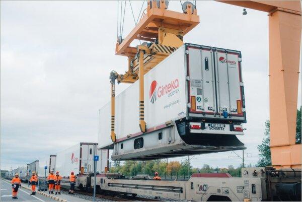 Girteka Logistics наращивает объемы интермодальных грузоперевозок. Это дает компании конкурентное пр