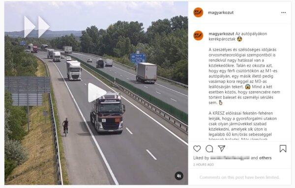 Videó – hol nem lehet kerékpározni? Az autópályákon! Hol kerékpároztak? Az M1-esen és az M3-ason…