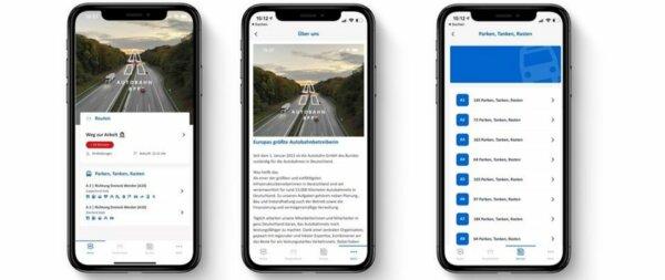 Alkalmazás a német autópályák forgalmáról, az útépítésekről és a parkolóhelyekről