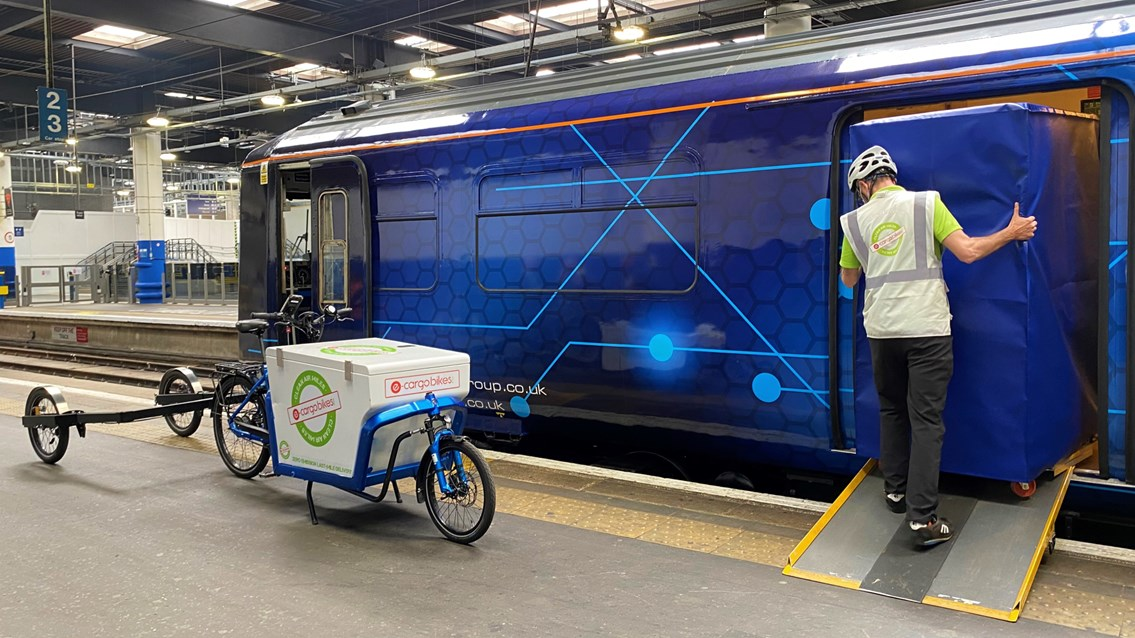 Converted passenger trains used to deliver parcels to UK city centres