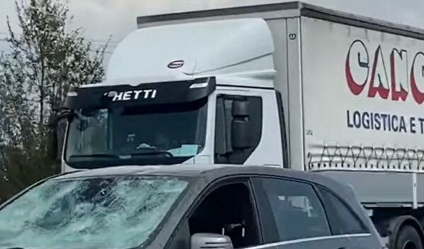 Severe hail wrecks cars and shuts motorway, but trucks escape virtually unscathed
