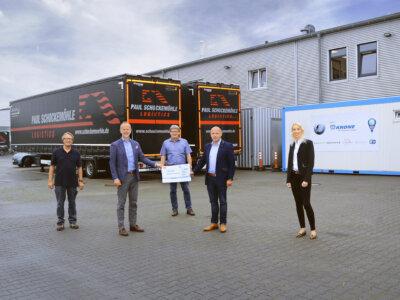 Neuer Sanitärcontainer für LKW-Fahrer
