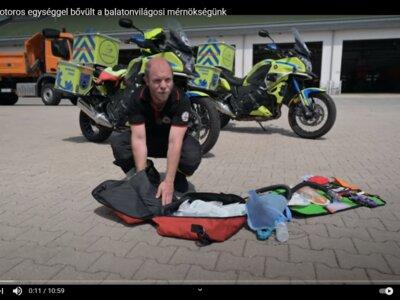 Mentőmotoros egységgel bővül a Magyar Közút balatonvilágosi mérnöksége (videó)