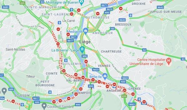 Kierowcy ciężarówek powinni unikać jazdy w okolice Liège. Oficjalne zalecenie władz