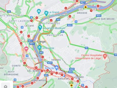 [Eilmeldung] Lkw-Fahrer: Meidet Lüttich wegen weitgehender Straßensperrungen – warnen die Behörden