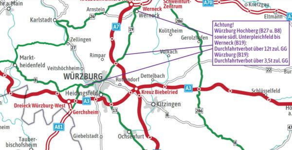 Летние запреты движения грузовиков в Германии. Карта альтернативных маршрутов впервые доступна онлай