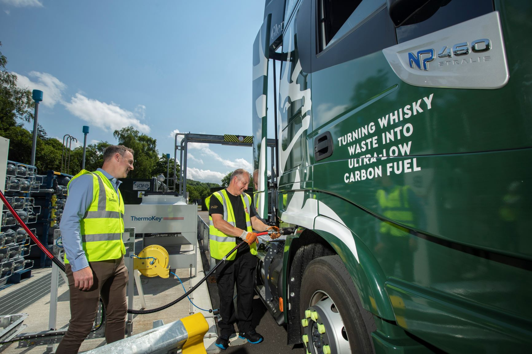 Glenfiddich fuels transport fleet with biogas made from its whisky residue