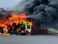 Lorry driver stops petrol station from exploding after fire breaks out