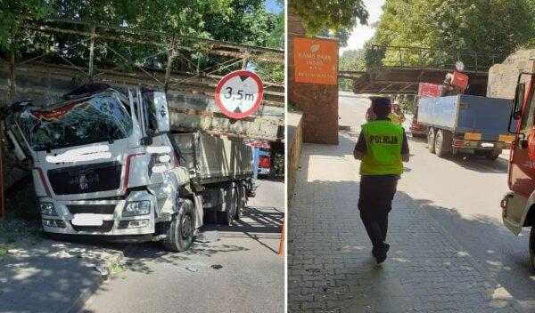 Disused crossing collapses in spectacular bridge strike; driver unhurt