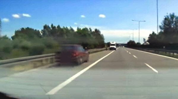 Kierowca busa powstrzymał jadącego pod prąd drogą ekspresową [WIDEO]