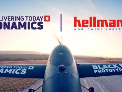DRONAMICS und Hellmann planen europaweite Transporte mit Frachtdrohnen ab 2022