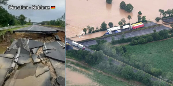 [AKTUALIZACJA] Powódź w Niemczech. Wraca ruch na niektórych drogach [LIVE]