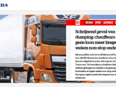 Vairuotojai gaudavo 300 Eur per mėnesį, namo negrįždavo savaitėmis. Lietuviškos įmonės darbuotojai s