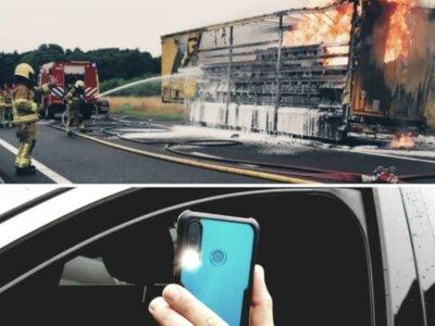 38 Tausend Euro für das Filmen eines brennenden LKW – Polizei zeigt kein Erbarmen