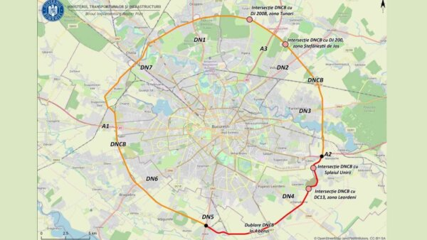 Ministerul Transporturilor intenționează să fluidizeze traficul pe centura Bucureștiului prin lărgir