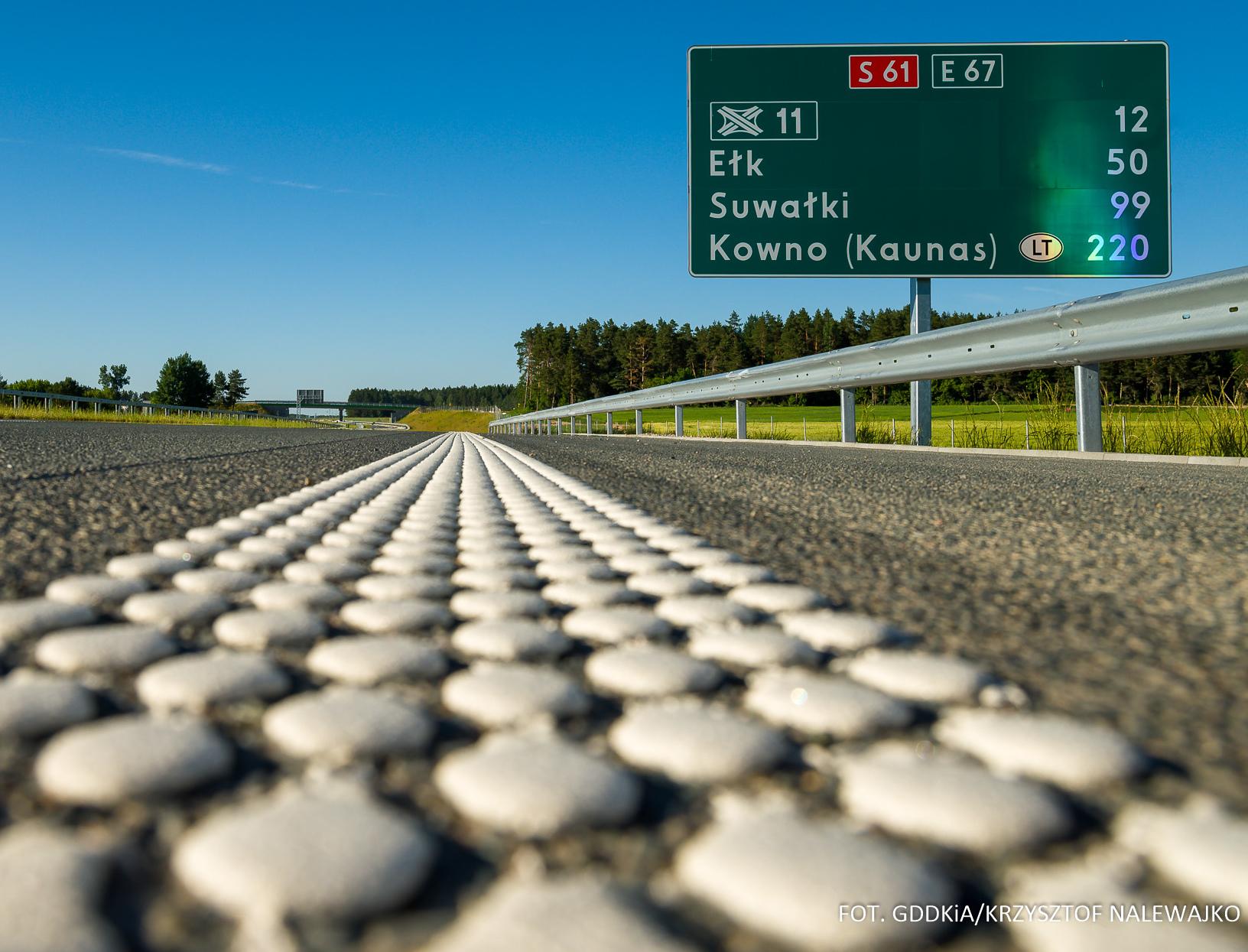 Ekspresówka w kierunku na Litwę dłuższa o nowe kilometry