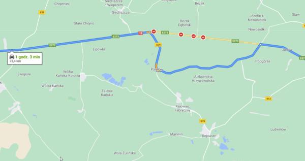 Tragiczny wypadek na DK12 na wschodzie Polski. Dwie osoby nie żyją, droga jest zablokowana