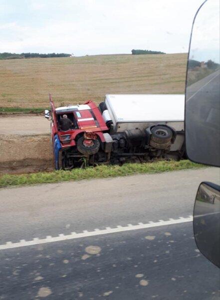 Nem volt pénze a lengyel kamionosnak a javításra, ezért volt egy hétig a kabinban. A helyiek mentett