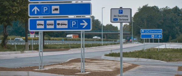 Expanded Lorry park with space for 105 vehicles opens on Germany's A44