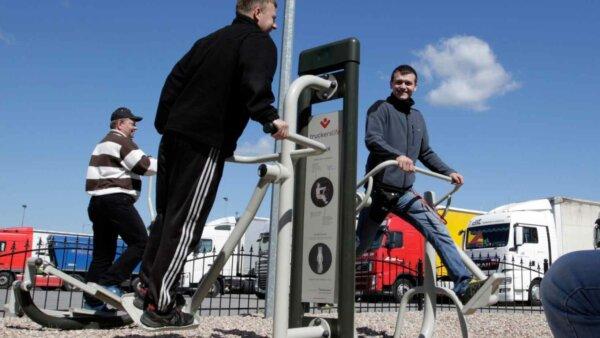 La frontiera dintre Germania și Franța a fost deschisă o nouă sală de fitness în aer liber destinată