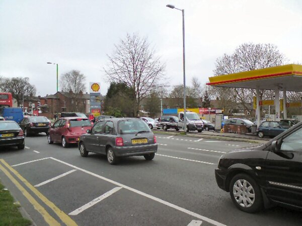 Reports of panic buying at UK petrol stations as fuel deliveries are restricted