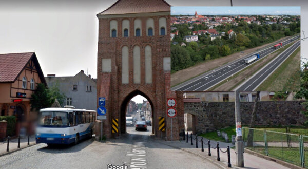 Ciężarówki już nie muszą jeździć koło średniowiecznej bramy. Miasto na trasie do granicy ma obwodnic