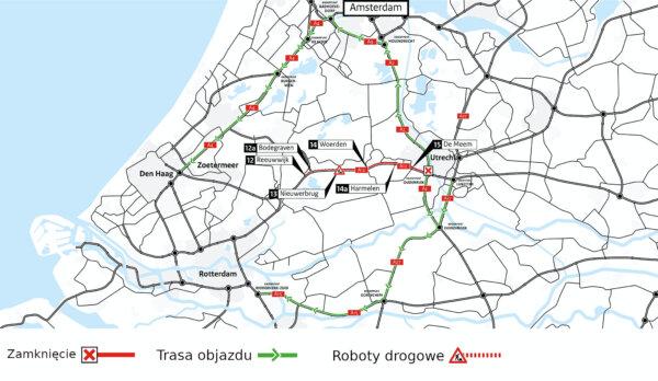 Szykują się trudne dni dla kierowców w Niderlandach. Jedna z autostrad zamknięta na ponad tydzień
