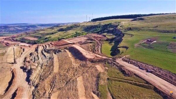 Autostrada Transilvania I O alunecare masivă de teren poate duce la schimbarea traseului viitoare au
