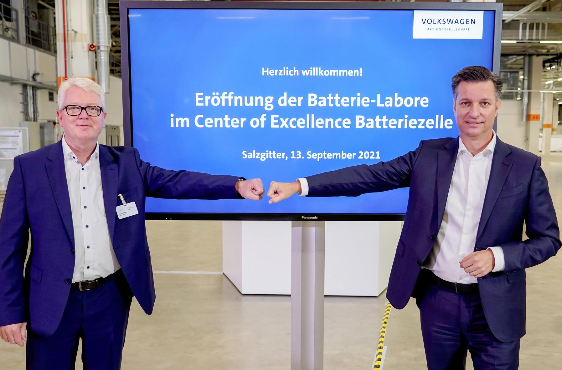 Volkswagen eröffnet Batterie-Labor für Elektroautos