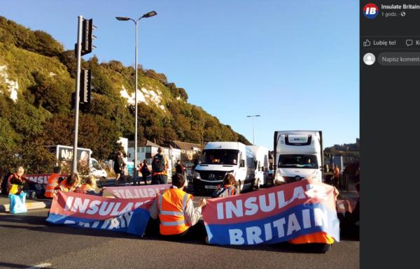 Grupa aktywistów ekologicznych zablokowała port w Dover