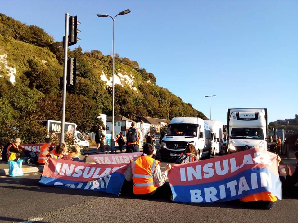 Insulate Britain protesters block traffic at Port of Dover