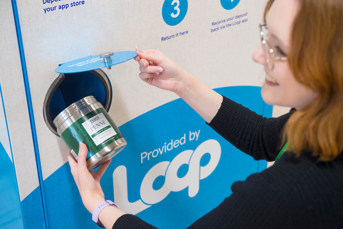 Tesco launches products in reusable containers that can be returned to stores