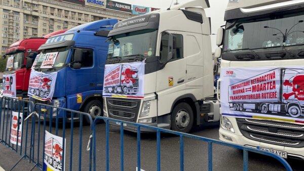 Transportatorii români organizează un nou protest