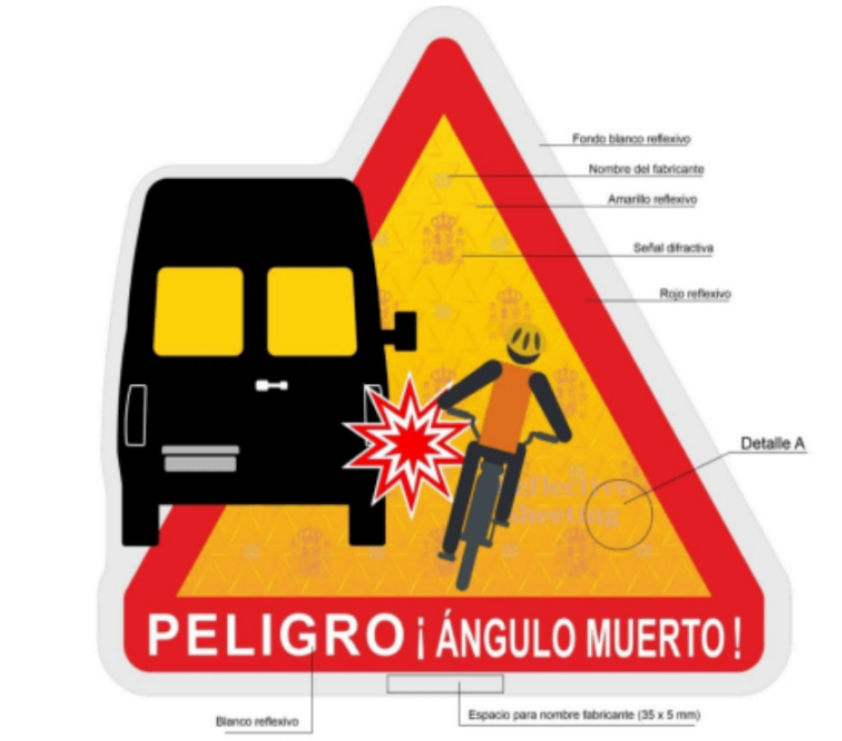 Spain follows France in introducing blind spot stickers for lorries
