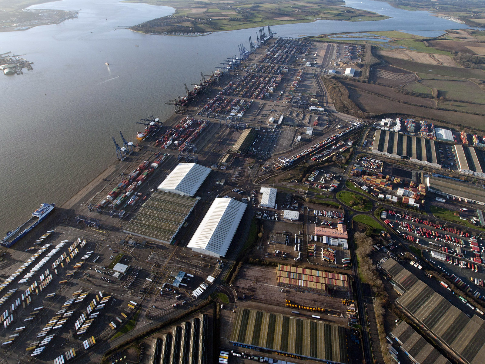 Driver shortage sees ships turned away from clogged-up Felixstowe Port