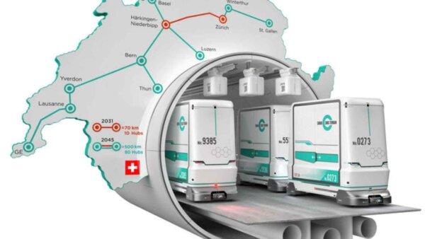 Parlamentul elvețian a aprobat legea privind Transportul Subteran de Marfă. Construcția primei secți